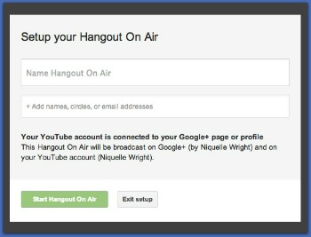 how to set up for a google hangout