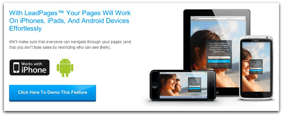 create mobile landing pages