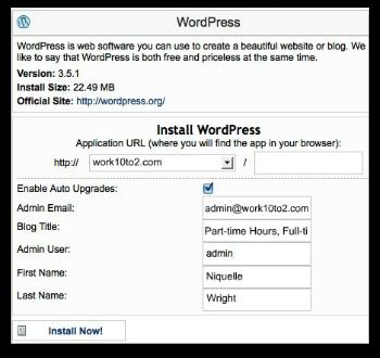 Install WP on Domain