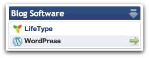Install Blog Software